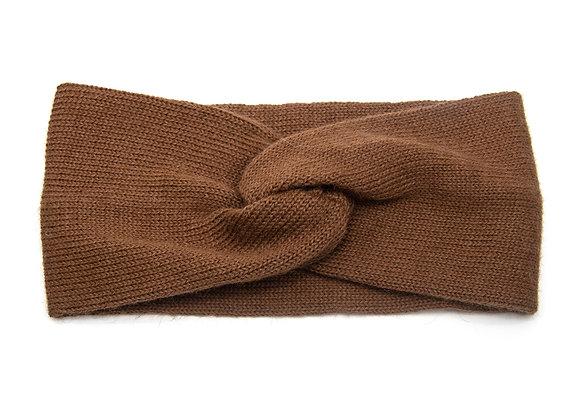 Headband marron en baby alpaga