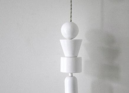 Lampe en céramique blanche - Blanc Bohème