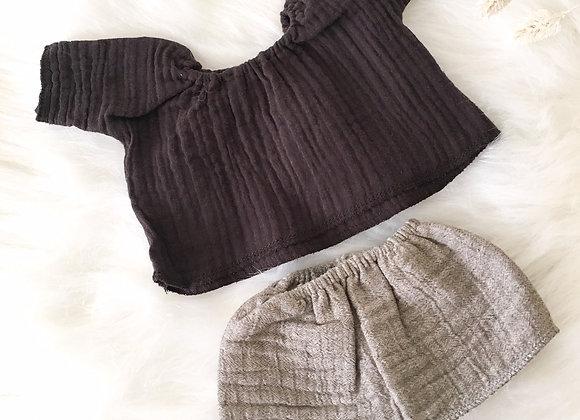 Enemble top et jupe pour poupée Gordi Minikane