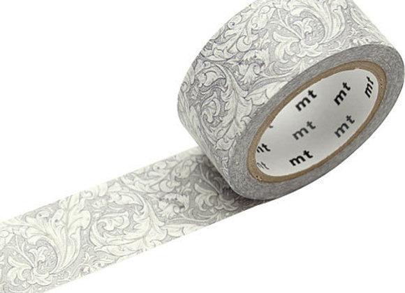 Masking tape William Morris Fleuri Gris
