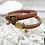 Bracelet élastique élégant marron - Blanc Bohème