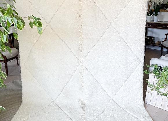 Tapis berbère Grands losanges blancs - Blanc Bohème