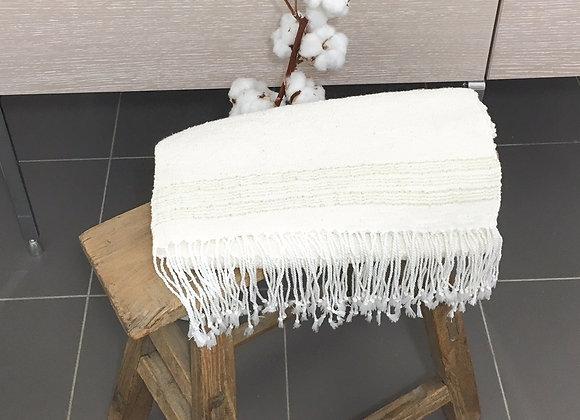 Grande serviette en coton d'Egypte lignes gold