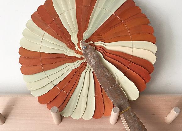 Eventail coloré tourbillon - Blanc Bohème