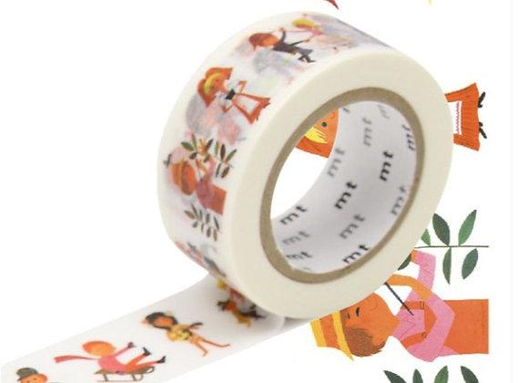 Masking tape Alain grée - Bonhommes -  Blanc Bohème