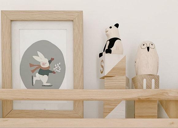 Panda en bois - Pole pole - T Lab