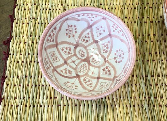 Bol en céramique motifs Rose pâle