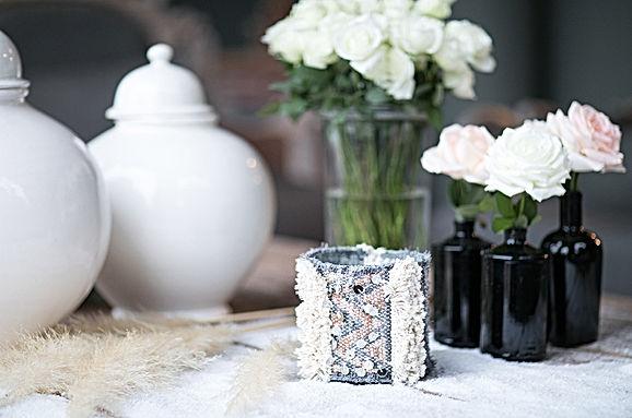 Bougies naturelles à la cire de soja - Blanc Bohème