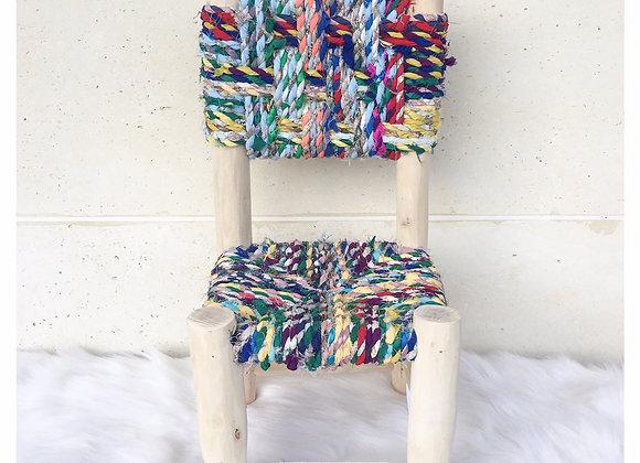 Petite chaise en bois - Blanc Bohème