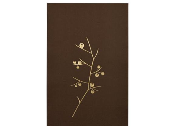 Serviette en papier marron