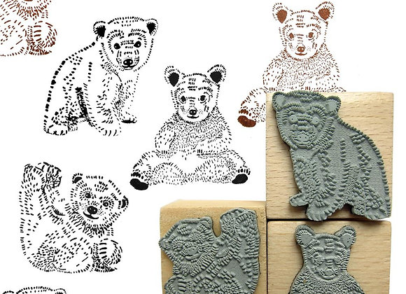 Tampons pour enfant: ours - Blanc Bohème