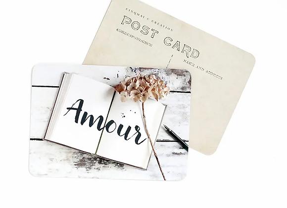 "carte postale vintage ""amour"""