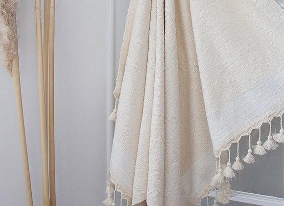 Grande serviette pompon