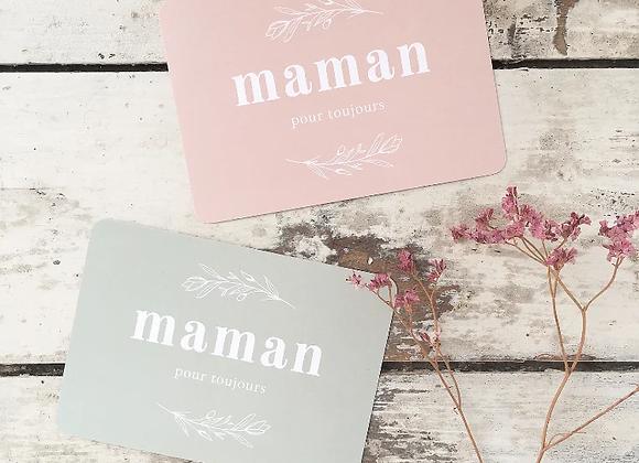 """Carte postale Vintage """" maman pour toujours"""""""