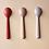 Thumbnail: Cuillères en bambou, pack de 3, grège, seigle, terracota