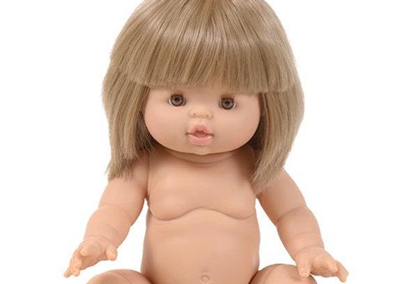 Poupée cheveux blond , Minikane - Blanc Bohème
