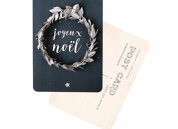 "carte postale ""joyeux Noel"" - blanc Bohème"