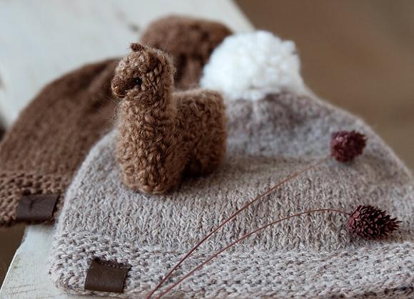 Petit alpaga marron , décoration chambre enfant - Blanc Bohème