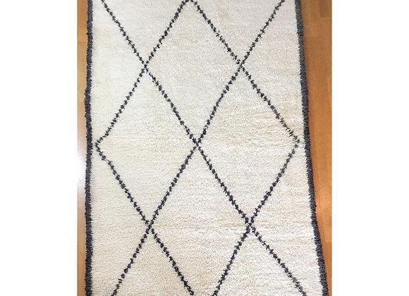 Tapis Béni Ouarain 287 x 156 cm
