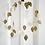 Couronne de feuilles dorées - blanc Bohème