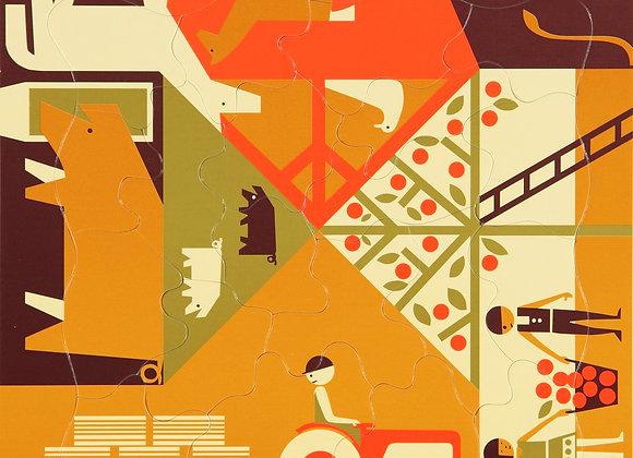 Puzzle ferme - 20 pièces - Design - Blanc Bohème