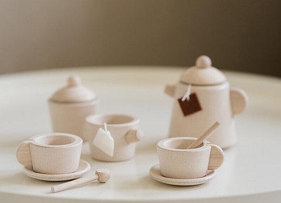 Dinette en bois- Service à thé - Blanc Bohème