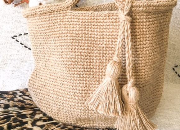 Panier crochet en laine