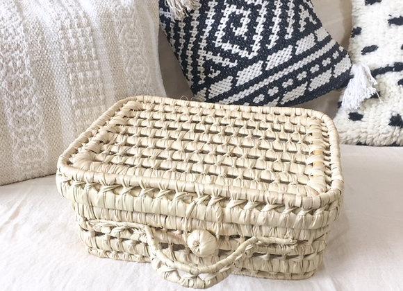 Valisette marocaine artisanale en osier