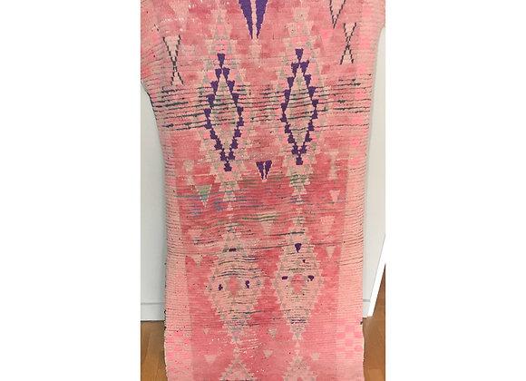 Tapis en laine rose vinatge