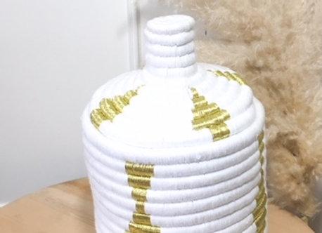 Pot Berbère blanc et or