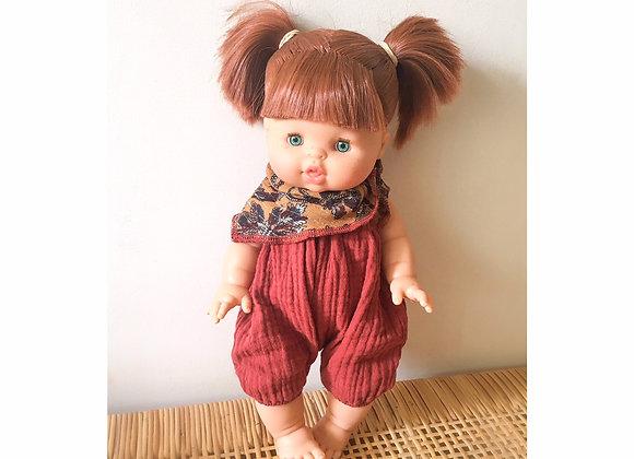 Poupée cheveux roux Paola reina, habillée