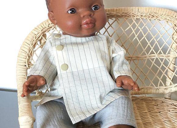 Ensemble écolier pour poupée Minikane