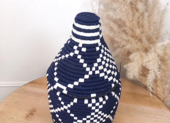Pot Berbère coloré Blanc et Bleu