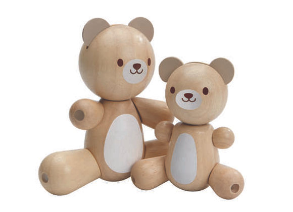 Maman et bébé ours articulés