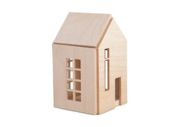 Maison en bois aimanté - Sélection Blanc Bohème