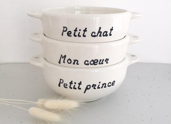 Bol Breton: Petit Chat, Mon Coeur, Petit Prince