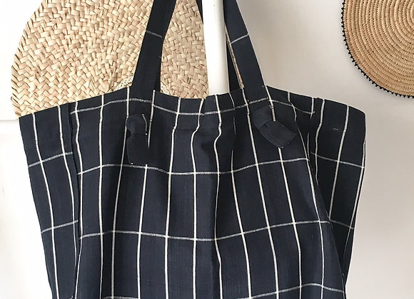 Grand sac cabasen coton, zippé,  Tensira