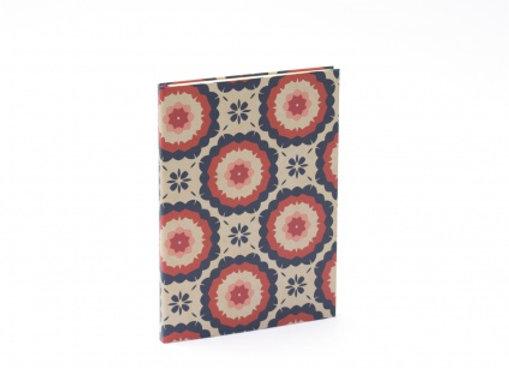 Carnet à couverture rigide, motifs seventies