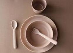 Coffret repas en bambou - Blanc bohème