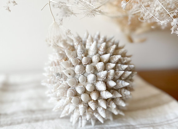 Boule coquillages Balinais - Blanc Bohème
