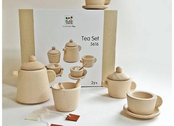 Service à thé en bois - jeu enfant