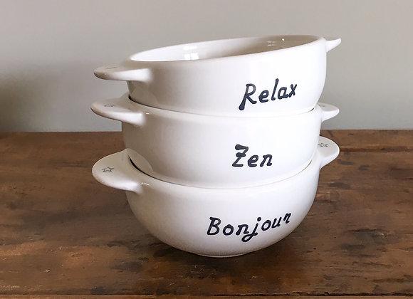 Bol Breton à message - Blanc Bohème