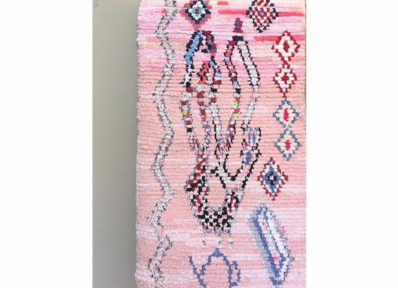 Tapis Boucherouite  129,5x68 cm