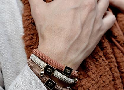 Bracelet couleur noisette - Blanc Bohème