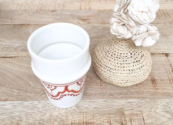 Gobelet céramique motifs berbères