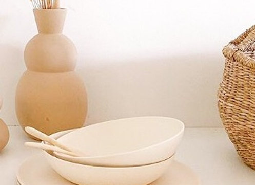 Assiette creuse en Bambou