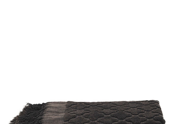 Serviette de toilette en coton noire