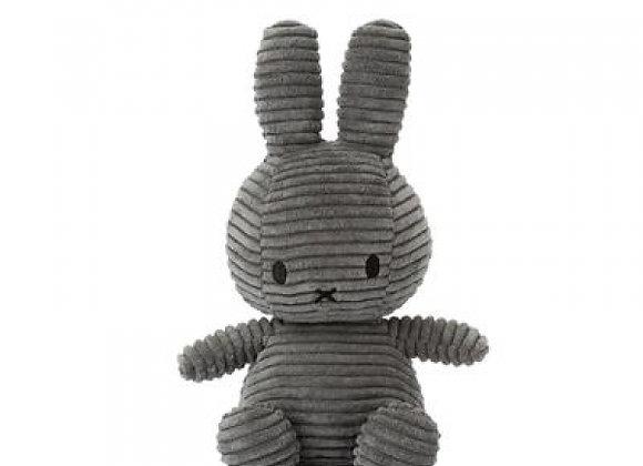 Peluche Lapin Miffy velours gris, 23 cm