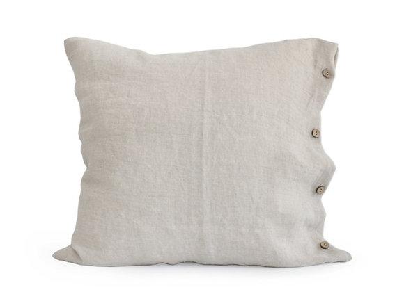 Housse de coussin Lin naturel clair - Blanc Bohème