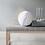 Boule décorative alvéolée blanche